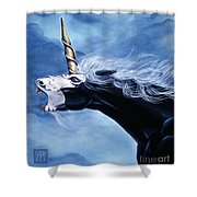 Unicorn Fury Shower Curtain
