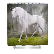 Unicorn In The Forest Shower Curtain