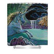 Unicorn Lake Shower Curtain