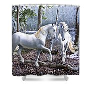 Unicorn Reunion Shower Curtain