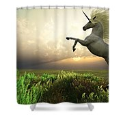 Unicorn Stag Shower Curtain