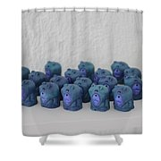 Unidimensional Man-child Shower Curtain