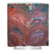 Unintended Abstract  Shower Curtain