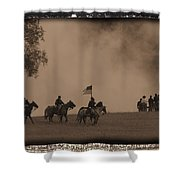 Union Cavalry Charge Shower Curtain