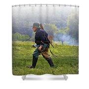 Union Cavalryman On Foot Shower Curtain