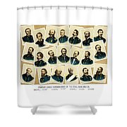 Union Commanders Of The Civil War Shower Curtain