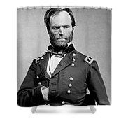 Union General William Tecumseh Sherman 1865 Shower Curtain