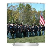 Union Infantry March Shower Curtain