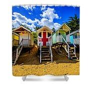 Union Jack Beach Hut 2 Shower Curtain