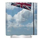 Union Jack Off Land's End Shower Curtain