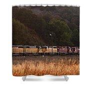 Union Pacific Locomotive Trains . 7d10551 Shower Curtain