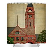 Union Pacific Railroad Depot Cheyenne Wyoming 01 Textured Shower Curtain