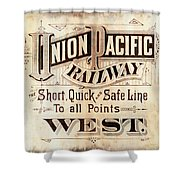 Union Pacific Railroad - Gateway To The West  1883 Shower Curtain