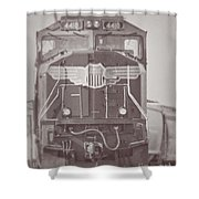 Union Pacific Train Shower Curtain