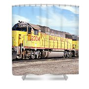 Union Pacific Up - Railimages@aol.com Shower Curtain