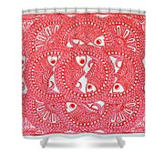 Union  Red Shower Curtain