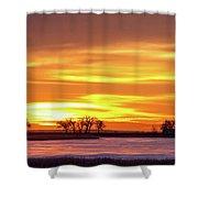 Union Reservoir Sunrise Feb 17 2011 Canvas Print Shower Curtain