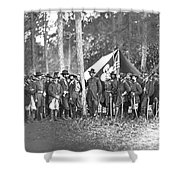 Union Soldiers Shower Curtain