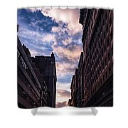 Dusk Over A Union Square Coffee Shower Curtain