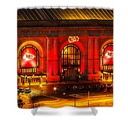 Union Station In Chiefs Red Shower Curtain