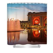 Union Station Kansas City Chiefs Shower Curtain
