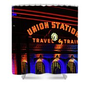 Union Station Lights Shower Curtain