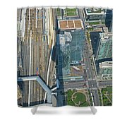 Union Station Train Yard Toronto From The Cn Tower Shower Curtain