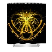 Unique Abstract Golden Pendant Shower Curtain