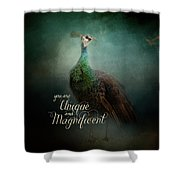 Unique And Magnificent - Peacock Art Shower Curtain