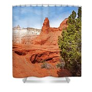 Unique Desert Beauty At Kodachrome Basin State Park Shower Curtain