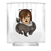 Unique Female Cats Shower Curtain