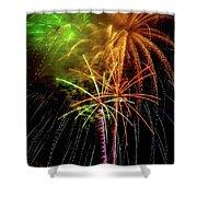 Unique Fireworks Shower Curtain