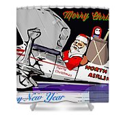 Unique Greets Original Holiday Greeting Card  Shower Curtain