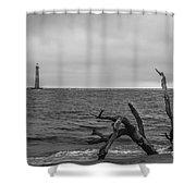 Unique Morris Island View Shower Curtain