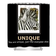 Unique Motivational Poster Shower Curtain by Darren Cannell