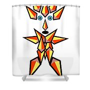 Unique Shape Hero Shower Curtain