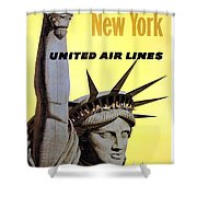 United Airlines  Shower Curtain
