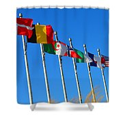 United We Stand Flags Art Shower Curtain