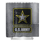 United States Army Logo On Steel Shower Curtain