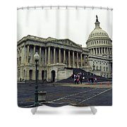 United States Capitol Building 2 Shower Curtain