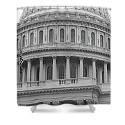 United States Capitol Building Bw Shower Curtain
