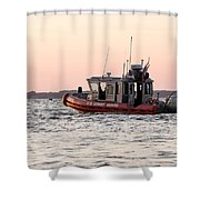 United States Coast Guard Heading Out Shower Curtain