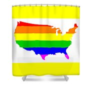 United States Gay Pride Flag Shower Curtain