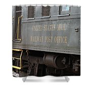 United States Mail Railway Post Office Box Car Shower Curtain