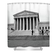 United States Supreme Court Building Bw Shower Curtain