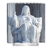 United States Supreme Court, The Contemplation Of Justice Statue, Washington, Dc 2 Shower Curtain