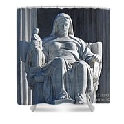 United States Supreme Court, The Contemplation Of Justice Statue, Washington, Dc 3 Shower Curtain
