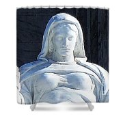 United States Supreme Court, The Contemplation Of Justice Statue, Washington, Dc 4 Shower Curtain