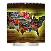 United States Wall Art Shower Curtain