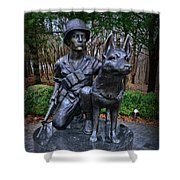 United States War Dog Memorial Shower Curtain